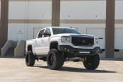 The Higher the Truck, the Closer to God: White Lifted GMC Sierra