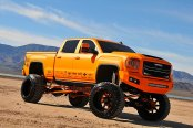 Fully Modified and Lifted Matte Orange GMC Sierra Denali Impresses