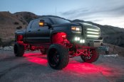 GMC Sierra Denali Gone Wild With Body Lift and Custom Lighting Solutions