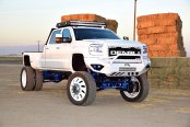 Body Lift and Off-Road Parts Reveal the Best Spirit of White GMC Sierra Denali
