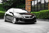 Black Honda Accord Gains Chrome Custom Parts