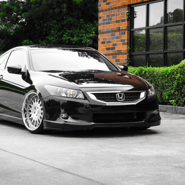 Chrome Mesh Grille On Black Honda Accord   Photo By Avant Garde Wheels