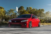 Stance Is Everything: Red Honda Accord with Custom Parts