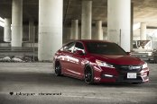 Cherry Red Honda Accord Goes Through Stylish Transformation