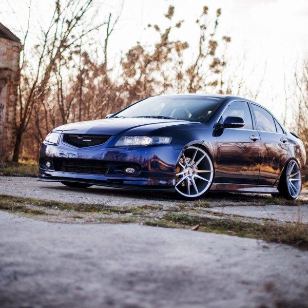 Custom Halo Headlights On Blue Honda Accord Photo By Jr Wheels