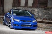 Sapphire Blue Honda Civic Si Redesigned with Custom Body Kit