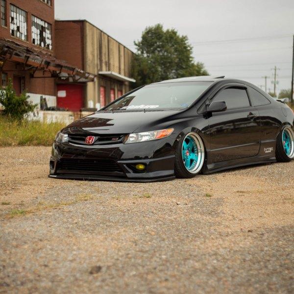 Custom Black Stanced Honda Civic Si   Photo By Avant Garde Wheels