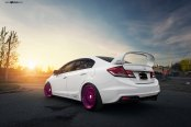Improved Aerodynamics for Stylish Customized White Honda Civic Si