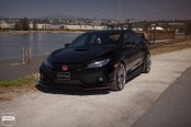 Honda Flow: Black Civic Wears Crystal Clear LED Headlights
