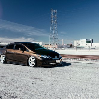 Fascinating Brown Honda Civic Receives Custom Parts and Nice Stance