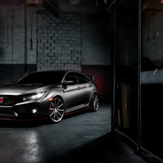 Sinister Custom Gray Honda Civic Type R Accentuated with Red Elements