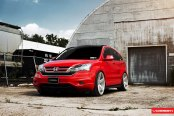 Candy Red Honda CR-V Goes in Style with Custom Parts