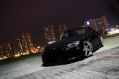 Sinister Black Honda S2000 Stands Out with the Protruding Custom Front Lip