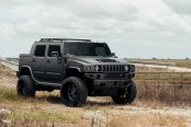 Mean-looking Hummer H2 SUT With a Lift and Fuel Off-road Wheels
