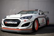 Magnified Race Ready White Hyundai Genesis Coupe