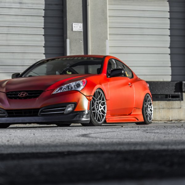Aftermarket Hood On Red Hyundai Genesis Coupe   Photo By Kyle Fletcher
