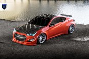 Stylish Exotic: Red Hyundai Genesis Coupe Gets Carbon Fiber Hood