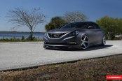 Gray Matte Hyundai Sonata Looking Mean on Custom Rims