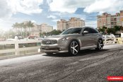 Gray Metallic Infiniti FX35 with Prominent Chrome Elements