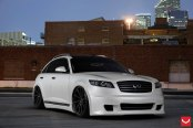 Magnetic Styling Tweaks for White Lowered Infiniti FX45