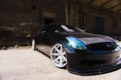 Carbon Fiber Mania: Custom Hood on Black Infiniti G35