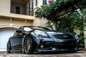 Bossy Black Infiniti G37 Gets Aftermarket Front Bumper with Fog Lights