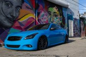 Riding Low Stanced Blue Infiniti G37