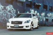 Fashion Look of Beautiful White Infiniti M37 With Aftermarket Wheels