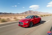 Red Infiniti Q60 Spruced Up with Chrome Grille and Vossen Rims