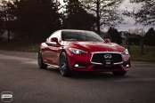 Red Infiniti Q60 Unique Attributes with Aftermarket Parts