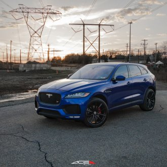 Exotic Transformation of Blue Jaguar F-Pace with Custom Accessories