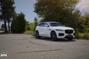 White Jaguar F-Pace Proudly Wearing Aftermarket Accessories
