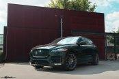 Jaguar Mania: Black F-Pace on Multispoke Avant Garde Wheels