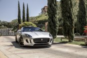 Silver Jaguar F-Type Highlighted by Distinctive Aftermarket Body Parts