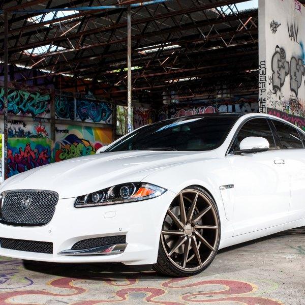 White Jaguar XF With Custom Chrome Canards   Photo By Vossen