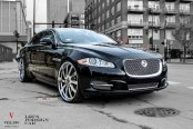 Elegant Black Jaguar XJ-Type Wearing 26 Inch Vellano Rims