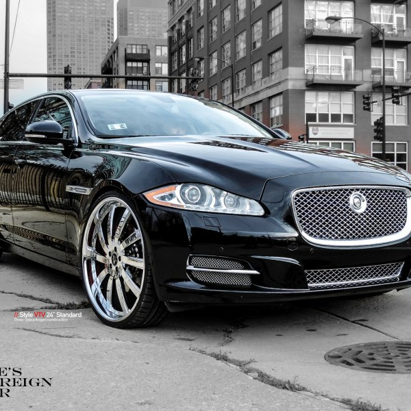 Black Jaguar XJ Type With Chrome Mesh Grille   Photo By Vellano
