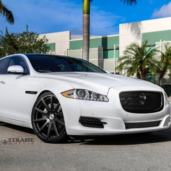 Attractive Blacked Out Mesh Grille On White Jaguar XJ Type   Photo By Strasse Forged