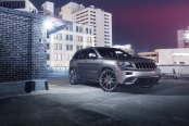 50 Shades on Cherokee: Gray Jeep Grand Cherokee with Aftermarket Parts