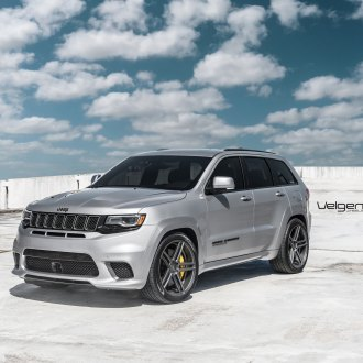 Moderate Customization for Silver Jeep Grand Cherokee on Velgen Rims