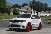 Hate It or Love It: White Jeep Grand Cherokee on Red Forgiato Wheels