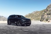 Blacked Out Jeep Grand Cherokee Gets Plenty of Attention with Custom Wheels