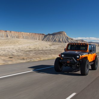 This is a Jeep World: Custom Orange Jeep Wrangler