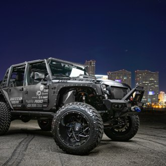 Heavilyy Customized Jeep Wrangler Unlimited with Aftermarket Parts