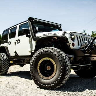 Off-Road Winch Front Bumper Turns White Jeep Wrangler Rubicon Into Significant Off-Roader