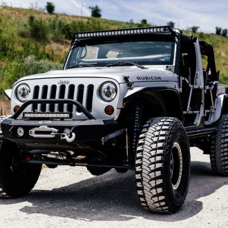 Silver Bullet: Lifted Jeep Wrangler on Fox Suspension Shocks