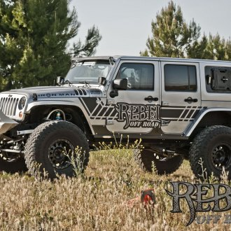 Impressive Rebel Off-Road Build, Gray Lifted Jeep Wrangler with Off-Road Front Bumper