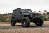 Completely Blacked Out Jeep Wrangler Shod in Off-Road Yokohama Tires and Black Rhino Wheels