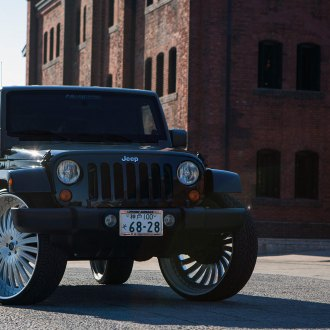 Impressive Presence: Jeep Wrangler on Huge Wheels