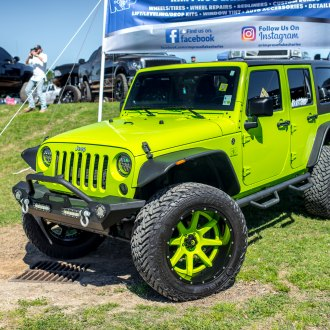Completely Reworked Neon Green Jeep Wrangler Unlimited by Fuel Off-road